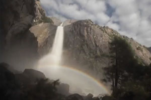 Lower Yosemite Fall Moonbow by Steven M. Bumgardner