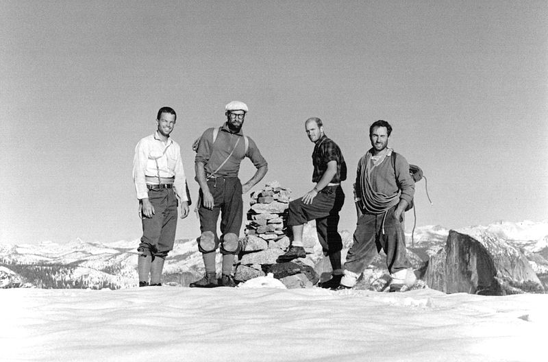 Frost, Robbins, Pratt and Chouinard after the first ascent of North America Wall. Photo by Tom Frost
