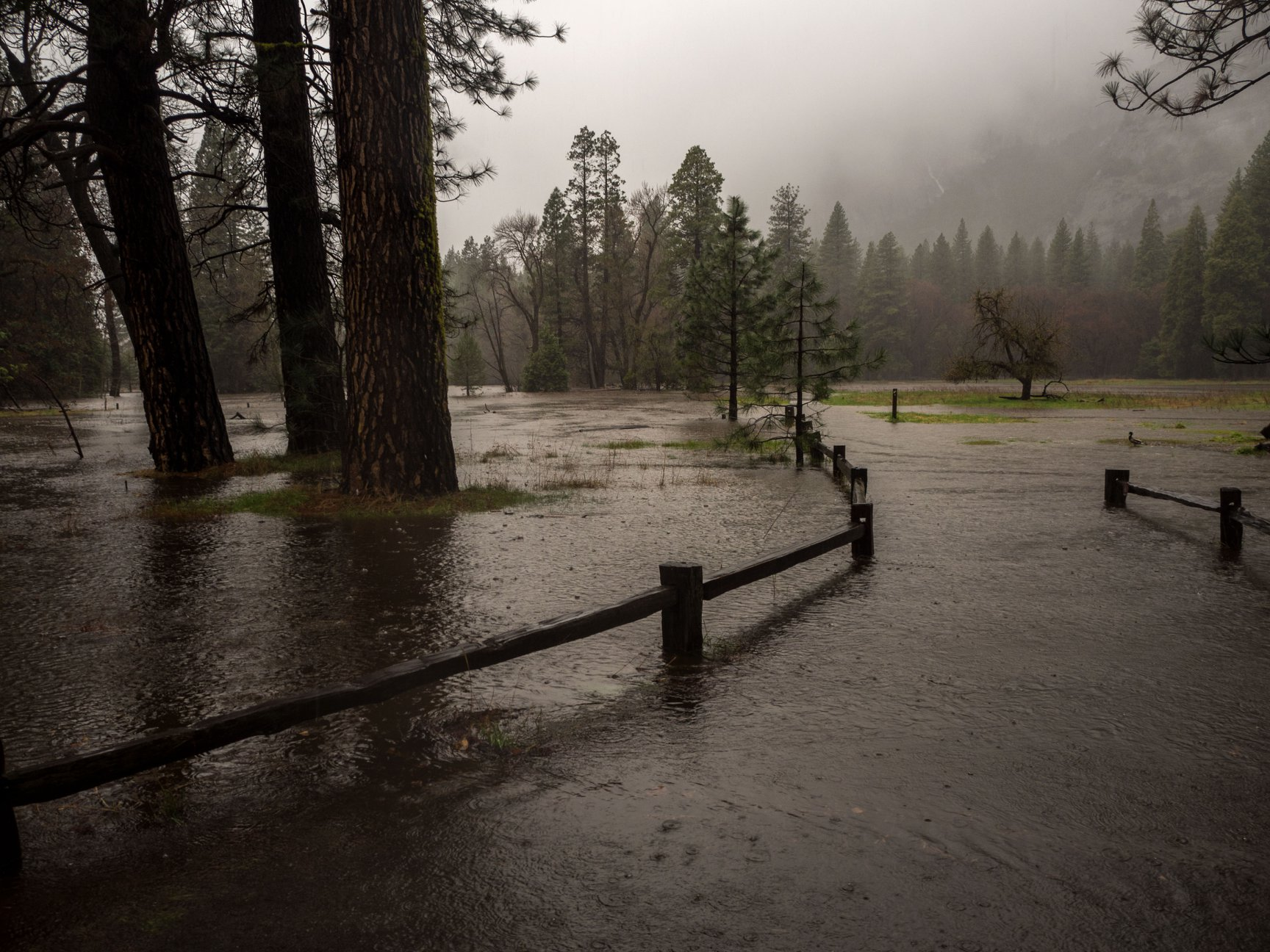 Yosemite Valley flooding April 7 2018